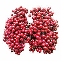 Декоративные ягоды бордо, 8 мм, 500 шт