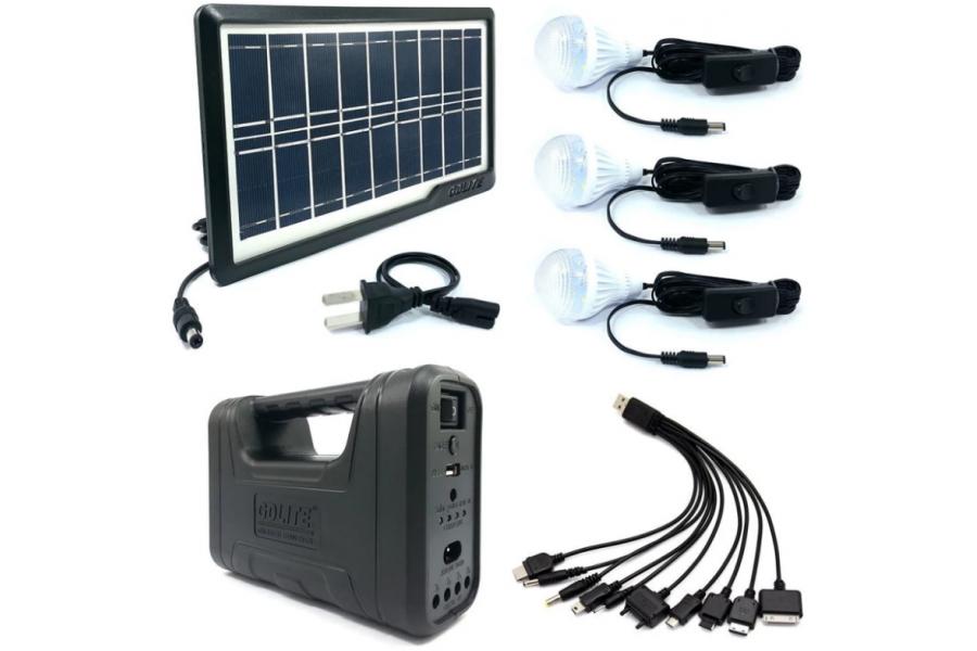 Універсальна портативна сонячна система GDLITE GD-8017 Plus