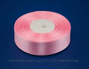 Стрічка атлас 0.6 см, 33 м, № 04 Ніжно-рожева