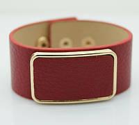 Красный кожаный браслет напульсник. Браслеты кожаные для женщин оптом 1152