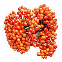 Декоративные ягоды оранжевые с красным, 8 мм, 500 шт