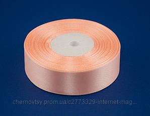 Стрічка атлас 0.6 см, 33 м, № 07 Ніжно-рожева