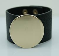 Черные кожаные браслеты напульсники. Женские кожаные браслеты оптом 1154