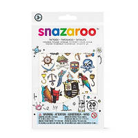 Набор наклеек для грима Snazaroo TATTOOS BOYS, 20 шт