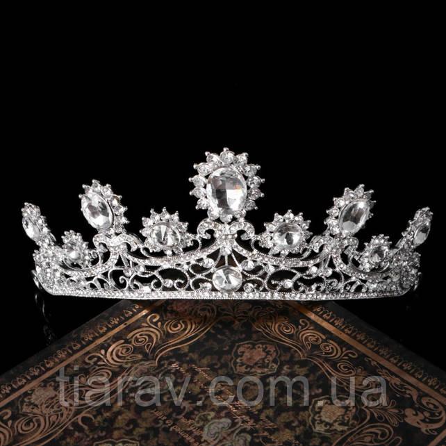 Диадема свадебная РУБИНА серебро Тиара Виктория украшения