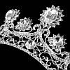 Диадема свадебная РУБИНА серебро Тиара Виктория украшения, фото 5