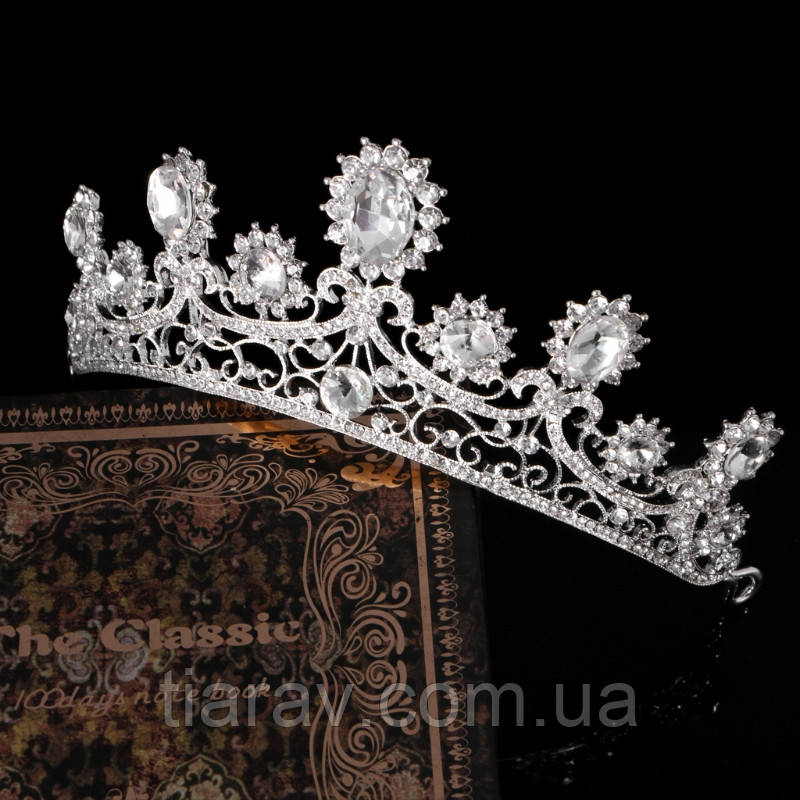 Свадебная диадема корона РУБИНА тиара украшения для волос