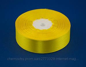 Лента атлас 0.6 см, 33 м, № 15 Жёлтая