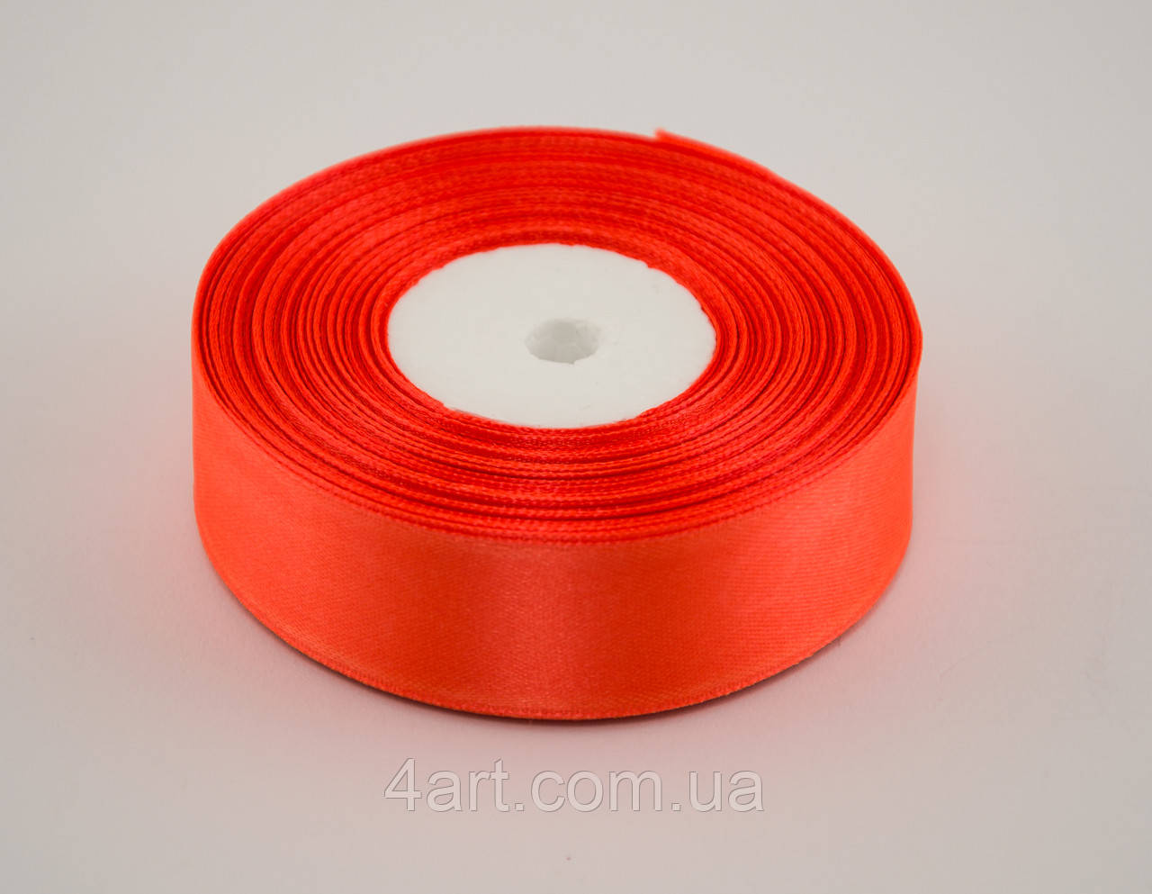 Лента атлас 0.6 см, 33 м, № 25 оранжевая