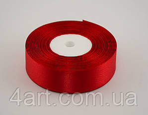 Лента атлас 0.6 см, 33 м, № 26 Красная