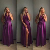 Женское летнее платье в пол на запах