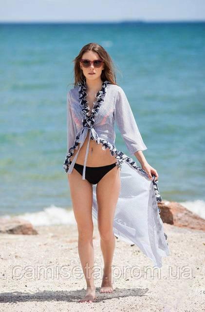 6b6613fee0b74 Женская длинная пляжная туника с рюшками P6729: продажа, цена в ...