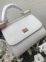 Жіноча сумочка DOLCE&GABBANA 'Sicily' біла (репліка), фото 1