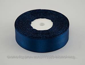 Стрічка атлас 0.6 см, 33 м, № 38 Темно-синя