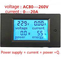 Ваттметр, Амперметр, вольтметр PZEM-021 LCD AC 80V-260V / 20A