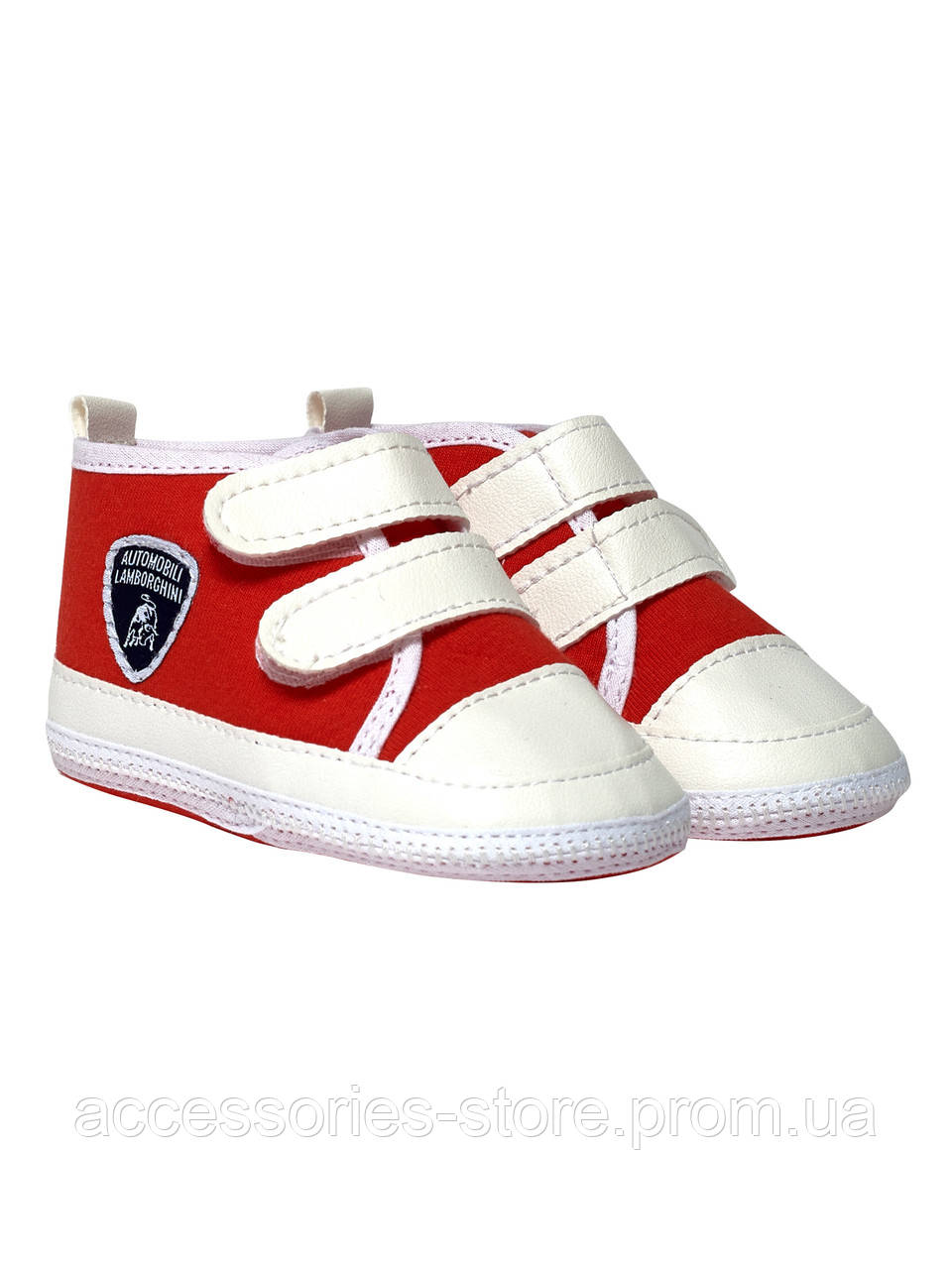 Обувь для детей Lamborghini Shield rip-tape strap shoes, white/red