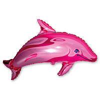 Гелиевый фольгированный шар Дельфин (розовый). Гелиевые шары Киев, гелиевые фигуры. Шары Троещина.