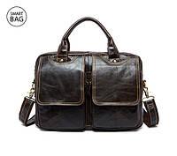 Стильный небольшой кожаный портфель Marrant пополнил ряды мужских аксессуаров интернет-магазина smartBAG