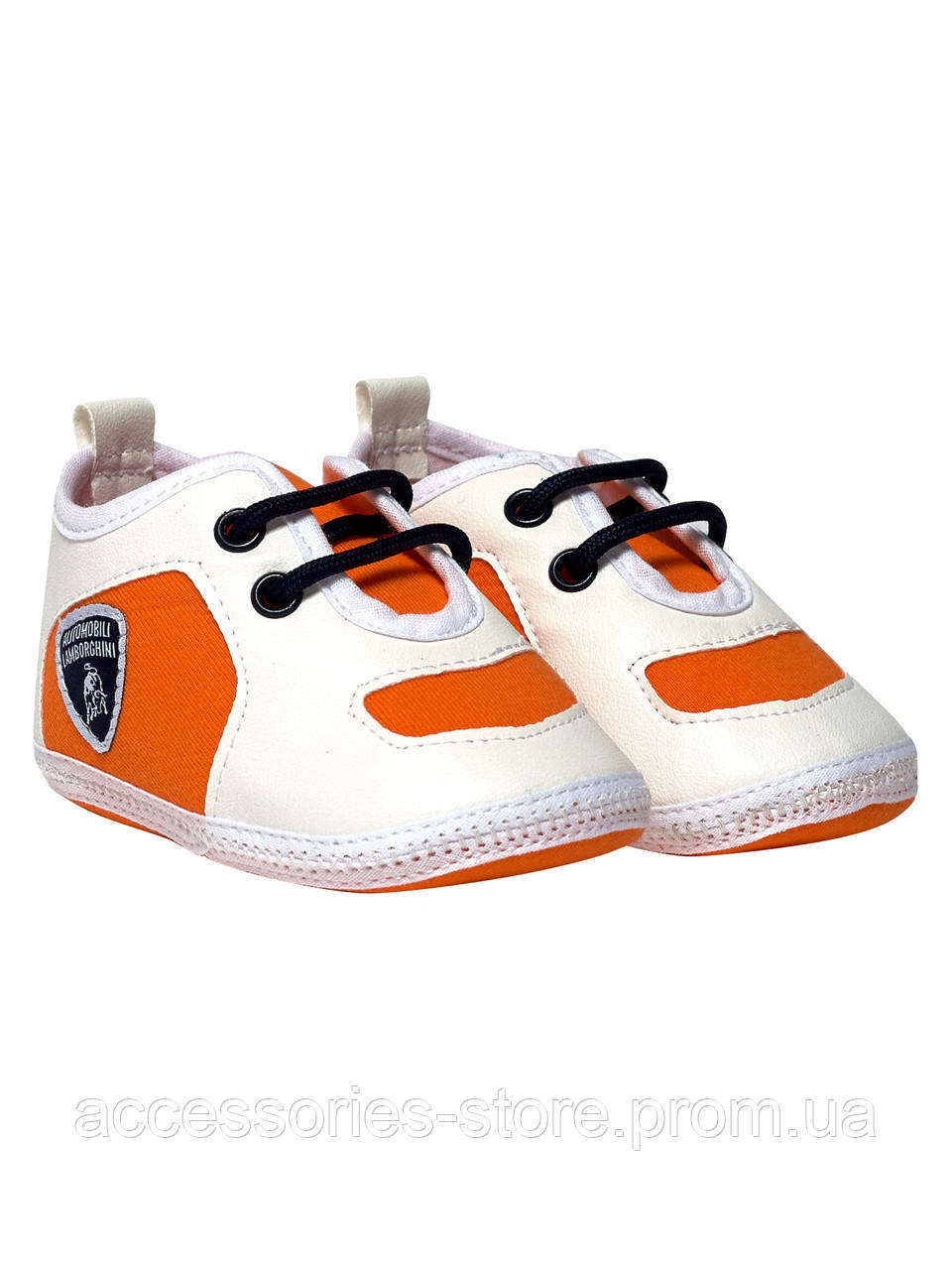 Обувь для детей Lamborghini Shield lace-up shoes, white/orange