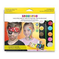 Набор красок для грима Snazaroo Boy hanging palette kit 9 цв + аксессуары (1180018), фото 1