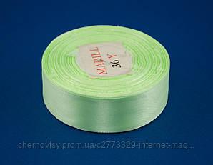 Лента атлас 0.6 см, 33 м, № 52н Светло-салатовая