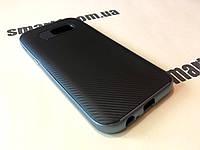 TPU чехол накладка Carbon на Samsung Galaxy A5 2017 Duos SM-A520 серый