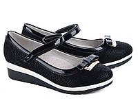 Стильные черные туфли для девочки р( 33-34), фото 1