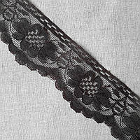 Кружево гипюр Цветок темный шоколад, 5 см, фото 1