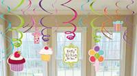 """Подвески - гирлянда  """"Сладкий Праздник"""" ( Украшение Детского Дня Рождения ) бумажные гирлянды"""