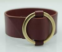 Бордовые женские браслеты напульсники из кожи. Модные кожаные браслеты оптом 1160
