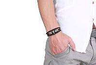 Кожаный браслет Череп