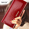 Оригинальный женский кошелек из натуральной лакированной кожи в красном цвете BETH CAT (30071), фото 7
