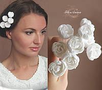 """Шпильки для волос """"Белые пионы""""(1шт), фото 1"""