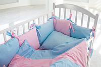 Детское постельное белье с бортиками на кроватку для девочки ЯРКИЙ МИКС ЗВЕЗДОЧЕК