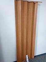 Дверь ширма гармошка межкомнатные, 501 вишня, 820х2030х0,6 мм раздвижные пластиковые глухие