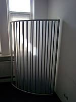 Ширма дверь для душа угловая полукруглая 90х90х185 см
