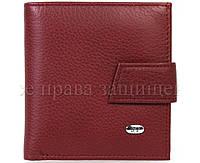 Маленький женский кошелек из натуральной матовой кожи в красном цвете ST Leather (15132)