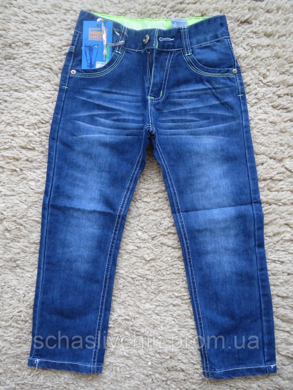 Джинсовые брюки для мальчиков оптом, Niebieski 7-12