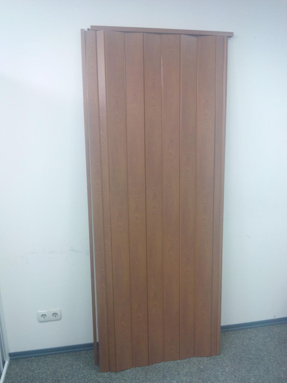 Дверь гармошка межкомнатная глухая, вишня 806, 810*2030*6мм