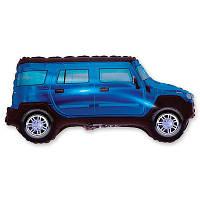 Гелиевый фольгированный шар - Машина синяя. Гелиевые шары Киев, гелиевые фигуры. Шары Троещина.