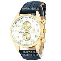 Часы Tag Heuer Carrera Calibre 17 Blue-Gold-White Quartz