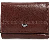 Небольшой женский кошелек из натуральной матовой кожи в багровом цвете ST Leather (15134)
