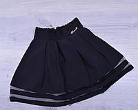 Юбка школьная Teresa для девочек. #787. Размеры 21-26. Черная. Школьная форма оптом