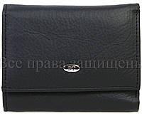 Небольшой женский кошелек из натуральной матовой кожи в черном цвете ST Leather (15136)
