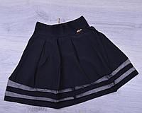 Юбка школьная Teresa для девочек. #779. Размеры 21-26. Черная. Школьная форма оптом