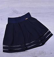 Юбка школьная Teresa для девочек. #779. Размеры 21-26. Темно-синяя. Школьная форма оптом