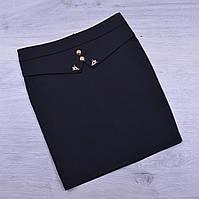 Юбка школьная Fujiayi для девочек. #702. Размеры 21-26. Черная. Школьная форма оптом
