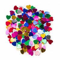 Конфетти сердца фольгированные 200 гр маленькие