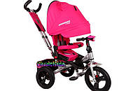 Детский трехколесный велосипед-трансформер Crosser T-400 колеса EVA розовый