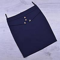 Юбка школьная Fujiayi для девочек. #702. Размеры 21-26. Синяя. Школьная форма оптом